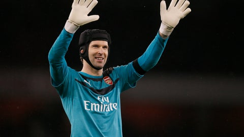 <p>               FILE -- In this Saturday, Jan. 2, 2016 photo Arsenal's Petr Cech waves to fans after the English Premier League soccer match between Arsenal and Newcastle United at Emirates stadium in London. Petr Cech says he is planning to retire from soccer at the end of the season. (AP Photo/Kirsty Wigglesworth, file)             </p>