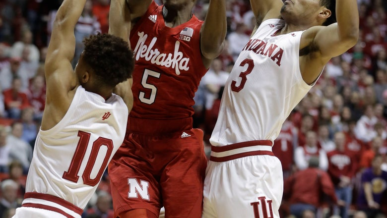 'Huskers lead wire to wire in 66-51 upset at No. 25 Indiana