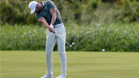 <p>               Kevin Tway hits from the 18th fairway during the first round of the Tournament of Champions golf event Thursday, Jan. 3, 2019, at Kapalua Plantation Course in Kapalua, Hawaii. (AP Photo/Matt York)             </p>