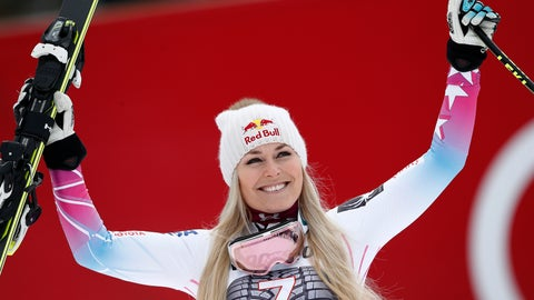 <p>               FILE - In this Feb. 4, 2018, file photo, United States' Lindsey Vonn celebrates on the podium after winning an alpine ski, women's world Cup downhill race, in Garmisch Partenkirchen, Germany. Lindsey Vonn is planning to return from injury this weekend, Jan. 12-13, 2019, for speed races in Austria, resuming her quest for the all-time record for World Cup wins. (AP Photo/Gabriele Facciotti, File)             </p>