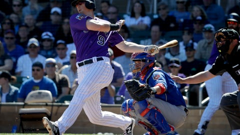 <p>               FILE - In this March 5, 2018, file photo, Colorado Rockies' DJ LeMahieu bats during a spring baseball game against the Chicago Cubs, in Scottsdale, Ariz. A person familiar with the negotiations tells The Associated Press that Gold Glove-winning free agent second baseman D.J. LeMahieu and the Yankees are nearing agreement on a two-year contract, a deal that would appear to eliminate New York as a destination for Manny Machado. The person spoke on condition of anonymity Friday, Jan. 11, 2019, because no agreement had been announced. (AP Photo/Chris Carlson, File)             </p>