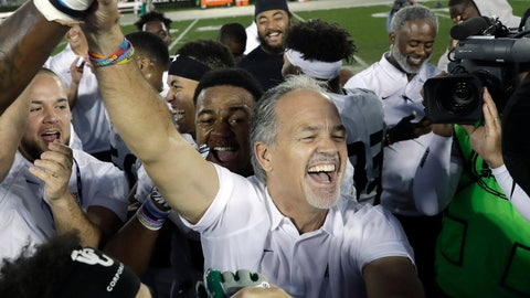 """<p>               FILE - In this Jan. 19, 2019, file photo, American Team head coach Chuck Pagano celebrates with his players after a 10-7 win over the National Team in the NFLPA Collegiate Bowl football game in Pasadena, Calif. Pagano is ready to embrace the """"opportunity of a lifetime"""" as the Chicago Bears' new defensive coordinator. He inherits a group that ranked among the best in the NFL and helped Chicago win the NFC North after four straight last-place finishes. (AP Photo/Marcio Jose Sanchez, File)             </p>"""
