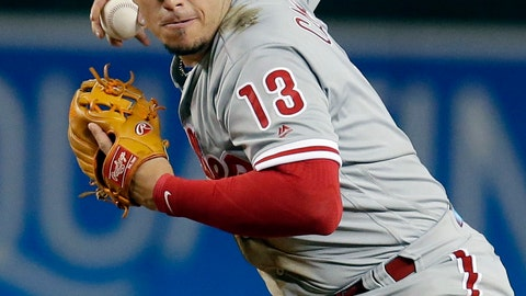 <p>               File-This Aug. 7, 2018, file photo shows Philadelphia Phillies second baseman Asdrubal Cabrera (13) in the first inning of a baseball game against the Arizona Diamondbacks in Phoenix. A person familiar with the deal says free agent infielder Cabrera has reached an agreement on a $3.5 million, one-year contract with the Texas Rangers. The person spoke to The Associated Press on condition of anonymity Tuesday, Jan. 22, 2019, because the deal is pending a physical for the 33-year-old Cabrera, who split last season with the New York Mets and Philadelphia Phillies. (AP Photo/Rick Scuteri, File)             </p>