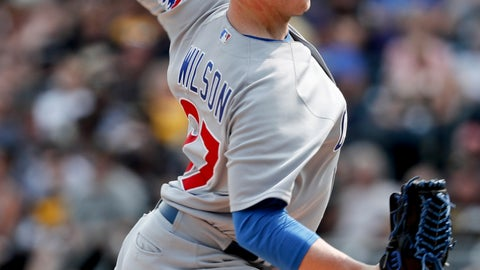 <p>               FILE - In this Aug. 19, 2018, file photo, Chicago Cubs relief pitcher Justin Wilson throws against the Pittsburgh Pirates in a baseball gam in Pittsburgh. A person familiar with the negotiations tells The Associated Press that left-hander Wilson and the New York Mets have agreed to a $10 million, two-year contract. The person spoke on condition of anonymity Friday, Jan. 25, 2019, because the agreement was subject to a successful physical. (AP Photo/Keith Srakocic, File)             </p>