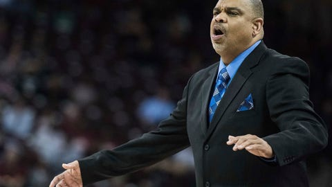 """<p>               FILE - In this Nov. 20, 2016, file photo, Hampton coach David Six communicates with players during the first half of the team's NCAA college basketball game against South Carolina in Columbia, S.C. Six has cherished being able to lead the Lady Pirates after suffering a stroke on June 27. The 55-year-old coach, who has guided Hampton to the NCAA Tournament in six of the past eight seasons, was told originally by doctors that he would probably need to take the year off from coaching to recover. He would have none of that. Six months later after intense """"boot-camp rehab"""", the only remnants of the stroke are a torn rotator cuff in his right shoulder he suffered when he fell and a slight limp. He's still doing some rehab to improve his strength, including water aerobics--which he did before suffering the stroke. (AP Photo/Sean Rayford, File)             </p>"""