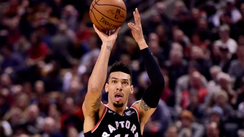 <p>               Toronto Raptors guard Danny Green (14) makes a shot during the first half  of an NBA basketball game against the Memphis Grizzlies in Toronto on Saturday, Jan. 19, 2019. (Frank Gunn/The Canadian Press via AP             </p>
