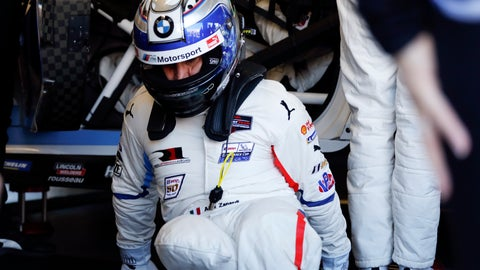 <p>               Alex Zanardi practices driver changes with team members in the BMW M8 GTE as he prepares for the IMSA 24 hour race at Daytona International Speedway, Friday, Jan. 25, 2019, in Daytona Beach, Fla. (AP Photo/Terry Renna)             </p>