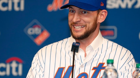 <p>               New York Mets All-Star infielder Jed Lowrie smiles as he talks to the media during a press conference introducing him, after he signed with the team, Wednesday, Jan. 16, 2019, in New York. (AP Photo/Kathy Willens)             </p>