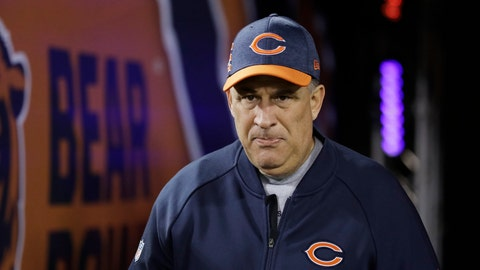 <p>               FILE - In this Dec. 9, 2018, file photo, Chicago Bears defensive coordinator Vic Fangio walks to the field before an NFL football game against the Los Angeles Rams, in Chicago. John Elway met with Bears defensive coordinator Vic Fangio about the Denver Broncos' head coaching vacancy Monday, Jan. 7, 2019, a day after Chicago's 16-15 loss to the Philadelphia Eagles in the NFC wild-card playoffs. At 60, Fangio is the oldest of the five candidates on Elway's short list as he searches for his fourth head coach in six years.(AP Photo/Nam Y. Huh, File)             </p>