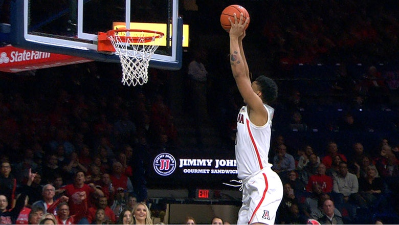 Ira Lee's ferocious dunk puts exclamation point on big first half for Arizona
