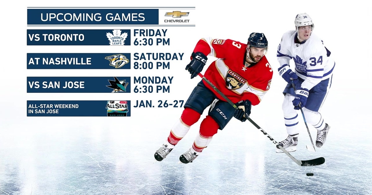 Panthers Trying To Pull Out Of 7 Game Losing Streak As Maple Leafs
