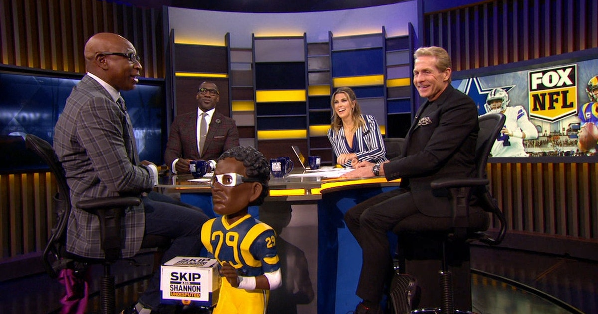 Eric Dickerson surprises Skip Bayless with a  Mini ED  before the Rams vs  Cowboys playoff showdown  9a3afc272