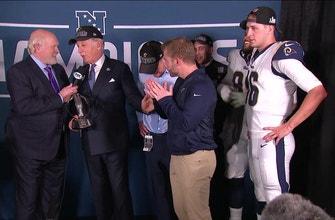Los Angeles Rams celebrate NFC Championship in locker room