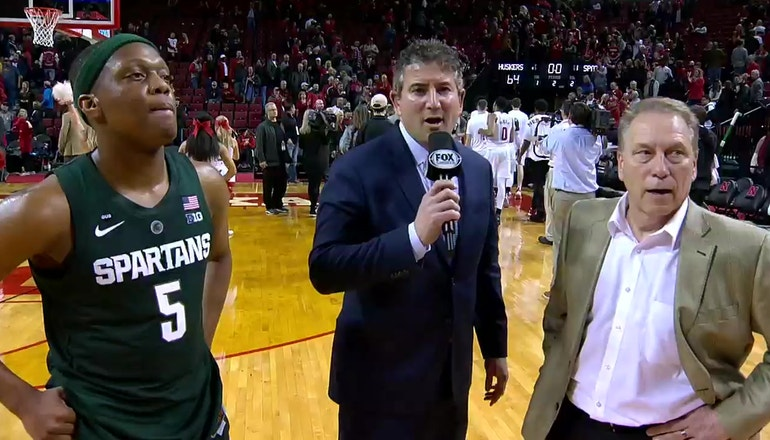 Cassius Winston and Tom Izzo recap a big night for the Michigan St Spartans