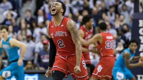 Jan 5, 2019; Washington, DC, USA; St. John's Red Storm guard Shamorie Ponds (2) reacts against the Georgetown Hoyas during overtime at Capital One Arena. Mandatory Credit: Scott Taetsch-USA TODAY Sports
