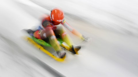 <p>               Julia Taubitz of Germany starts during the women's luge world cup in Schoenau at Koenigssee on Daturday, Jan.5, 2019. (Tobias Hase/dpa via AP)             </p>