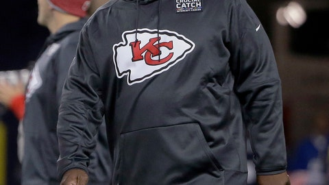<p>               FILE - In this Oct. 14. 2018, file photo, Kansas City Chiefs offensive coordinator Eric Bieniemywalks on the field before the team's NFL football game against the New England Patriot, in Foxborough, Mass. It was Doug Pederson a couple years ago. Matt Nagy last year. Now, it's Eric Bieniemy that is juggling the roles of Chiefs offensive coordinator with the phone calls from teams searching for their next head coach. (AP Photo/Steven Senne, File)             </p>