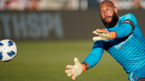 <p>               File-This June 1, 2018, file photo shows Colorado Rapids goalkeeper Tim Howard deflecting a shot by the Vancouver Whitecaps during the first half of an MLS soccer match, in Commerce City, Colo. Colorado Rapids and former U.S. national team goalkeeper Howard says this season will be his last in Major League Soccer. Howard announced his final season on Tuesday, Jan. 22, 2019, on social media, a day after the Rapids players reported to training camp in advance of the season. (AP Photo/Jack Dempsey, File)             </p>