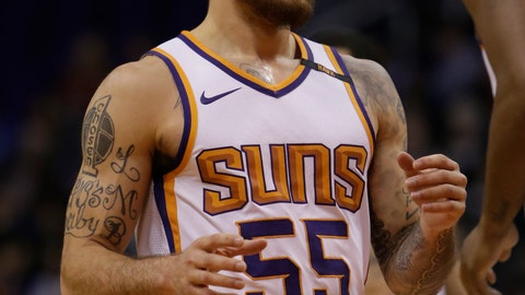"""<p>               FILE - In this Wednesday, Dec 13, 2017, filer, Phoenix Suns guard Mike James (55) in the first quarter during an NBA basketball game against the Toronto Raptors, in Phoenix. American basketball player Mike James says he was racially profiled by Milan police who pointed guns at him and two friends after being stopped on the street, a claim that police deny. James, an African American who plays for Olimpia Milano, tweeted, """"Me and my friends Just profiled by the police smh (shaking my head) it happens even in Europe."""" James added, """"Police stopped me and my two friends in the midst of 50 people walking. Got out they car with guns in hand talking about show me ID smh."""" A spokesman for Milan's Carabinieri paramilitary police told The Associated Press on Sunday that racial profiling had no role in the """"routine check."""" (AP Photo/Rick Scuteri, File)             </p>"""