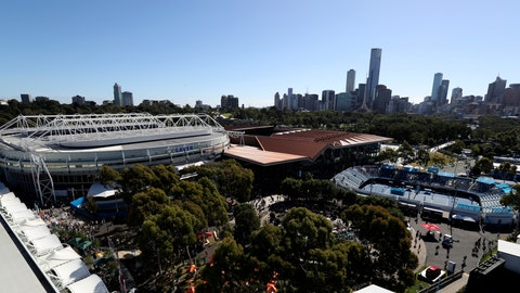<p>               FILE - This Jan. 26, 2017, file photo shows a general view of Melbourne Park, where the Australian Open tennis championships is taking place, in Melbourne, Australia. See how much you know about the Australian Open by taking the AP's quiz about the year's first Grand Slam tennis tournament. (AP Photo/Aaron Favila, File)             </p>