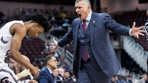 <p>               South Carolina coach Frank Martin yells at A.J. Lawson during the first half of the team's NCAA college basketball game against Mississippi State on Tuesday, Jan. 8, 2019, in Columbia, S.C. (AP Photo/Sean Rayford)             </p>