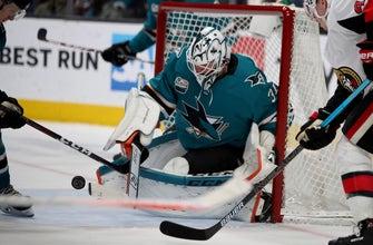 Burns, Jones lead Sharks to 4-1 win over Senators