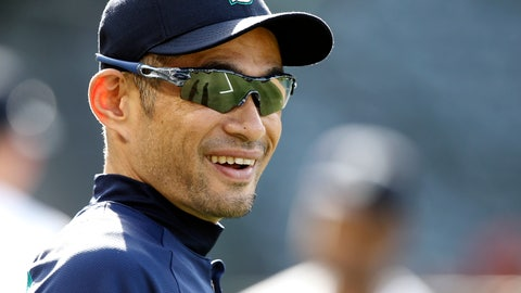 <p>               FILE - In this Tuesday, July 10, 2018 file photo, Seattle Mariners' Ichiro Suzuki, of Japan, smiles during warm ups before a baseball game against the Los Angeles Angels in Anaheim, Calif. Ichiro Suzuki has agreed to a minor-league deal with the Seattle Mariners paving the way for the 45-year-old to play in Seattle's season-opening series in Japan. Suzuki's agent, John Boggs, confirmed the agreement on Wednesday, Jan. 23, 2019. (AP Photo/Alex Gallardo, File)             </p>