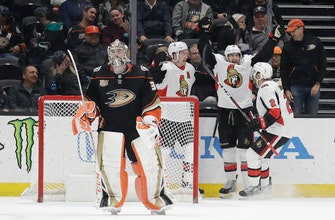 Ducks' winless skid reaches 9 games with overtime loss to Senators