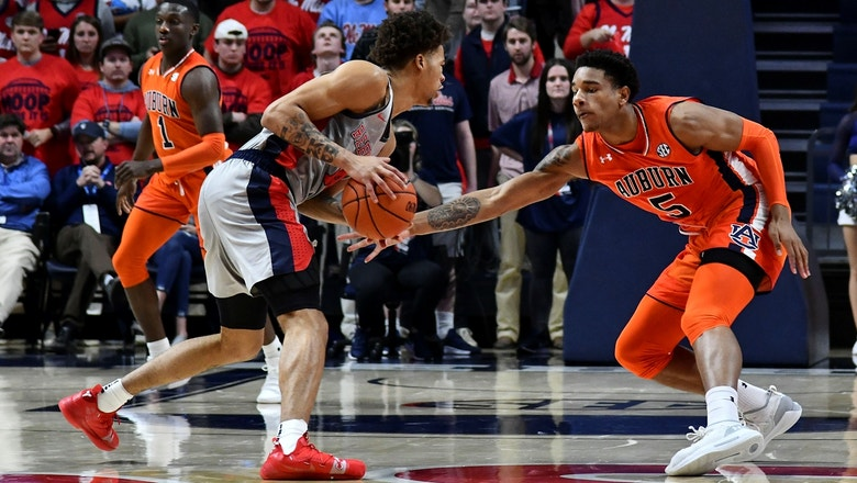 No. 11 Auburn struggles in 82-67 loss to Ole Miss