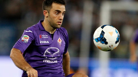 <p>               FILE - In this file photo dated Sunday, Oct. 6, 2013, Fiorentina forward Giuseppe Rossi during a Serie A soccer match against Lazio, at Rome's Olympic stadium. The former Villarreal and Fiorentina striker, Rossi's career has been slowed by knee injuries and he has been out of contract since leaving Genoa at the end of last season, and Thursday Jan. 17, 2019, he has been invited to train at his former club Manchester United to get his playing sharpness back. (AP Photo/Riccardo De Luca, FILE)             </p>