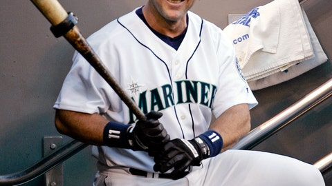 <p>               FILE - In this Oct. 2, 2004, file photo, Seattle Mariners designated hitter Edgar Martinez waits his turn to bat against the Texas Rangers, Saturday, Oct. 2, 2004, in Seattle. Martinez was elected to baseball's Hall of Fame Tuesday, Jan. 22, 2019. (AP Photo/Elaine Thompson, File)             </p>