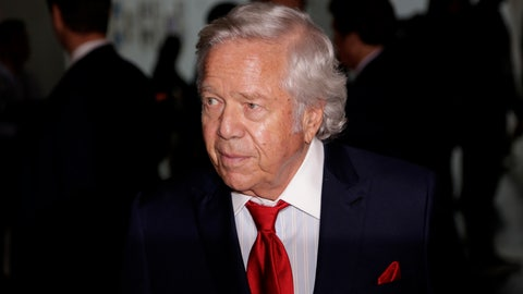 """<p>               File - In this Oct. 16, 2018 file photo, New England Patriots owner Robert Kraft arrives for the NFL football fall meetings in New York. On Wednesday, Jan. 9, 2019, Kraft was awarded Israel's 2019 Genesis Prize, a $1 million recognition widely known as the """"Jewish Nobel Prize."""" Organizers of the prize announced they were recognizing Kraft's philanthropy and commitment to Israel. (AP Photo/Seth Wenig, File)             </p>"""