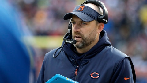 <p>               FILE- In this Dec. 16, 2018, file photo, Chicago Bears head coach Matt Nagy watches the action from the sideline during the first half of an NFL football game against the Green Bay Packers in Chicago. After winning the NFC North, the Bears host the Philadelphia Eagles in a wild card game packed with story lines on Sunday, Jan. 6, 2019. (AP Photo/Nam Y. Huh, File)             </p>