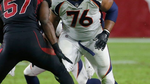 <p>               FILE - In this Oct. 18, 2018, file photo, Denver Broncos offensive guard Max Garcia works against the Arizona Cardinals during an NFL football game in Glendale, Ariz.  Garcia and New Orleans Saints receiver Austin Carr are the Super Bowl Gospel Choir's two active players. Garcia says he found out about the choir from a teammate and was put in touch with Johnson. (AP Photo/Rick Scuteri, File             </p>