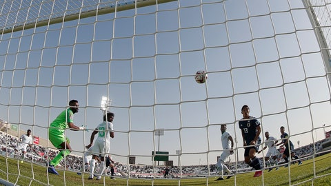 <p>               Japan's defender Takehiro Tomiyasu scores the opening goal during the AFC Asian Cup round of 16 soccer match between Japan and Saudi Arabia at the Sharjah Stadium in Sharjah, United Arab Emirates, Monday, Jan. 21, 2019. (AP Photo/Hassan Ammar)             </p>