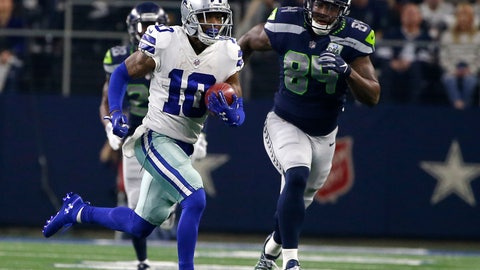 <p>               FILE - In this Jan. 5, 2019, file photo, Dallas Cowboys' Tavon Austin (10) returns a punt for a long gain as Seattle Seahawks' Ed Dickson gives chase during an NFC wild-card NFL football game in Arlington, Texas. Austin's fresh start with the Cowboys wasn't much different than the stale final season the versatile receiver endured with the Los Angeles Rams. The difference is that Austin has a chance to change the feeling, against his former team no less, in the divisional round of the playoffs. The Cowboys traded for Austin during the draft, but he missed nine games after injuring a groin. (AP Photo/Ron Jenkins, File)             </p>
