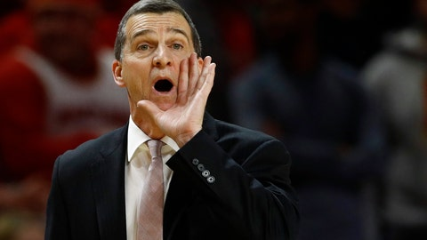 <p>               Maryland head coach Mark Turgeon directs his players in the second half of an NCAA college basketball game against Wisconsin, Monday, Jan. 14, 2019, in College Park, Md. (AP Photo/Patrick Semansky)             </p>