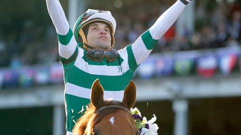 <p>               FILE - In this Nov. 3, 2018 file photo Joel Rosario celebrates after riding Accelerate to victory in the Breeders' Cup Classic horse race at Churchill Downs in Louisville, Ky. Accelerate's big week is here, and it's off to a start his connections wanted. Accelerate is the 9-5 early favorite to win the $9 million Pegasus World Cup on Saturday, Jan. 26, 2019, drawing the No. 5 post in a field of 12 for the race to be run over 1 1/8 miles of dirt at Gulfstream Park. It'll be the final race for the Breeders' Cup Classic champion, who is a mere 1 1/8 miles of Gulfstream Park dirt away from beginning his stud career. (AP Photo/Darron Cummings, file)             </p>