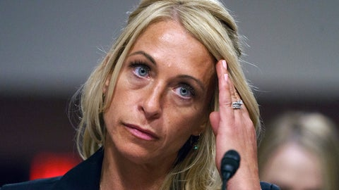 <p>               FILE - In this June 5, 2018, file photo, former USA Gymnastics executive Rhonda Faehn pauses as she testifies during a Senate Subcommittee on Consumer Protection, Product Safety, Insurance, and Data Security hearing in Washington. The University of Michigan has hired Faehn as a women's gymnastics coaching consultant. The move was announced Saturday, Jan. 12, 2019, after The Michigan Daily reported the hire earlier in the day. USA Gymnastics parted ways with Faehn as senior vice president in May after she was criticized by victims of Larry Nasser. The former national team doctor is now serving decades in prison for abusing athletes. (AP Photo/Carolyn Kaster, File)             </p>