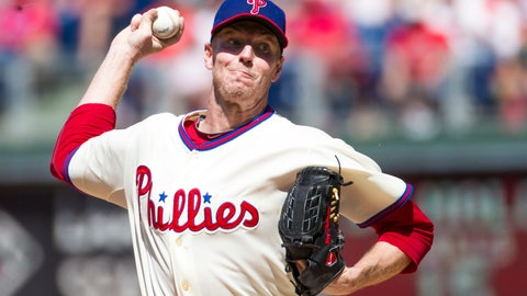 <p>               File-This Aug. 25, 2013, file photo shows Philadelphia Phillies starting pitcher Roy Halladay throwing a pitch during the third inning of a baseball game in Philadelphia. Halladay, an ace with the Toronto Blue Jays and Philadelphia Phillies, got 85.4 percent and will be the first posthumous inductee since Deacon White in 2013 and Ron Santo in 2012. Halladay died in November 2017 at 40 years old when an airplane he was flying crashed into the Gulf of Mexico off the coast of Florida.  (AP Photo/Christopher Szagola, File)             </p>