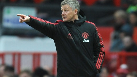 <p>               Manchester United manager Ole Gunnar Solskjær gives instructions during the English FA Cup third round soccer match between Manchester United and Reading at Old Trafford in Manchester, England, Saturday, Jan. 5, 2019. (AP Photo/Rui Vieira)             </p>