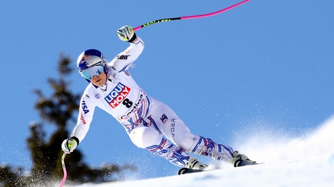 <p>               United States' Lindsey Vonn speeds down the course during an alpine ski, women's World Cup super-G in Cortina D'Ampezzo, Italy, Sunday, Jan. 20, 2019. (AP Photo/Marco Trovati)             </p>