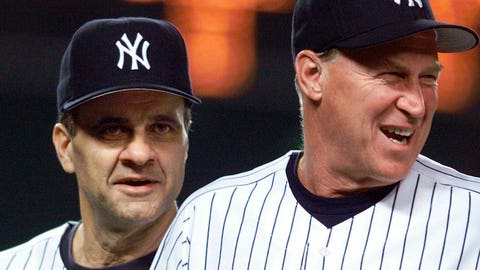 <p>               FILE - In this Aug. 27, 1999 file photo, New York Yankees manager Joe Torre, left, and pitching coach Mel Stottlemyre head onto the field to congratulate their players after the Yankees defeated the Seattle Mariners 8-0 in New York. Stottlemyre, the former ace who later won five World Series rings as the longtime pitching coach for both the New York Yankees and Mets, has died. He was 77. The Yankees said Stottlemyre died Sunday, Jan. 13, 2019. He had been living in the Seattle area and had multiple myeloma for nearly 20 years. (AP Photo/Mark Lennihan, File)             </p>