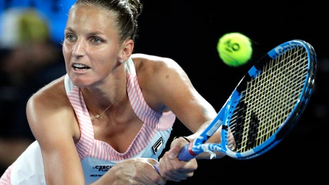 <p>               FILE - In this Thursday, Jan. 24, 2019 file photo, Karolina Pliskova of the Czech Republic makes a backhand return to Japan's Naomi Osaka during their semifinal at the Australian Open tennis championships in Melbourne, Australia. Karolina Pliskova will lead defending champion Czech Republic at first round of the Fed Cup against Romania on Feb. 9-10, 2019. (AP Photo/Kin Cheung/File)             </p>