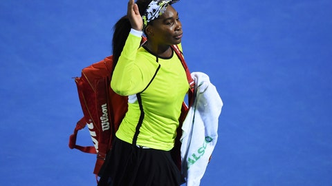 <p>               United States' Venus Williams waves as she leaves the court following her quarterfinal loss to Canada's Bianca Andreescu at the ASB Women's Classic tennis tournament in Auckland, New Zealand, Friday, Jan. 4, 2019. (AP Photo/Chris Symes)             </p>