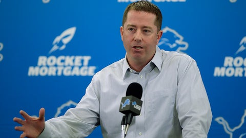 <p>               Detroit Lions general manager Bob Quinn talks about the team and its needs and answered questions from reporters during his season ending NFL football news conference, Friday, Jan. 4, 2019, at the team's practice facility in Allen Park, Mich. (Clarence Tabb Jr./Detroit News via AP)             </p>