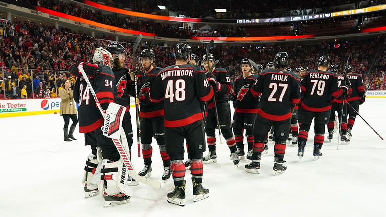 Hurricanes net 6 goals in rout of Preds