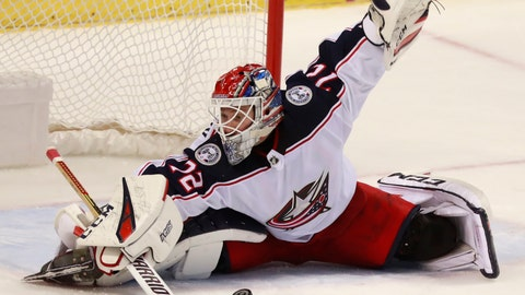 <p>               File- This Jan. 5, 2019, file photo shows Columbus Blue Jackets goaltender Sergei Bobrovsky (72) making a save during the third period of an NHL hockey game in Sunrise, Fla. Two-time Vezina Trophy-winning goaltender Bobrovsky and winger Artemi Panarin both will be unrestricted free agents after the season and thus far have refused to sign extensions. At least one of Russian stars could be dealt by the trade deadline Feb. 25, or the Blue Jackets risk getting nothing if they sign with another team after the season.  (AP Photo/Wilfredo Lee, File)             </p>