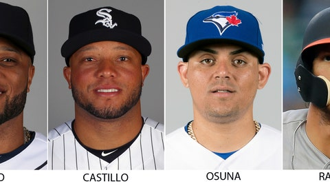 <p>               From left are 2018 file photos showing Robinson Cano, Welington Castillo, Roberto Osuna and Colby Rasmus. Spending on Major League Baseball payrolls dropped last season for the first time since 2010, an $18 million decrease attributable to drug and domestic violence suspensions and a player retiring at midseason. Seattle second baseman Robinson Cano lost about $11.7 million and Chicago White Sox catcher Welington Castillo approximately $3.5 million after positive drug tests. Closer Roberto Osuna's domestic violence suspension cost him roughly $2.1 million from Toronto and Houston, and Baltimore outfielder Colby Rasmus walked away from about $1.5 million rather than try to come back from a hip injury. (AP Photo/File)             </p>
