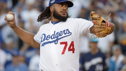 <p>               FILE- In this Oct. 17, 2018, file photo, Los Angeles Dodgers' Kenley Jansen throws during the ninth inning of Game 5 of the National League Championship Series baseball game against the Milwaukee Brewers in Los Angeles. Jansen has dropped 25 pounds since the end of last season and threw his first bullpen session Thursday, Jan. 24, 2019, since a heart procedure in November. (AP Photo/Jae Hong, File)             </p>